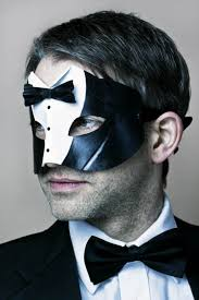 men masquerade masks men s tuxedo black white leather masquerade mask