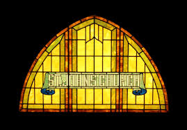 stained glass entry door antique