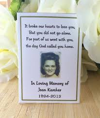 seed cards memorial gift memorial keepsake memorial favors memorial