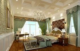 luxury bedroom curtains pale green printed curtains in luxury villa bedroom interior design