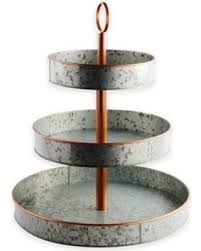 3 tier stand deals on heritage home galvanized metal and copper 3 tier serving