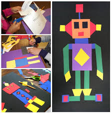 quadrilateral robots great project based learning math activity