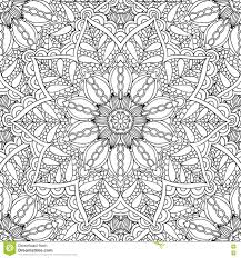 coloring pages adults decorative hand drawn doodle nature