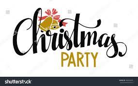 christmas banner christmas party handwritten black stock vector