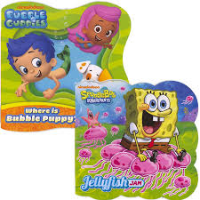 Bubble Guppies Twin Bedding by Amazon Com Nickelodeon Shaped Board Book Set Spongebob