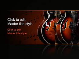 download presentation music free music guitar ppt template