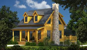 Log Homes Floor Plans With Pictures by The Auburn A Small Log Cabin Plan