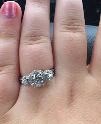 3 halo engagement rings e ring is in show me yours weddingbee