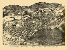 Map Of Aspen Colorado by Panoramic Print Aspen Colorado Pitkin 1893