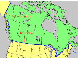 map us states bordering canada map us canada eastern border map usa and canada border 13 maps