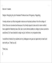 sample pregnancy resignation letter 5 examples in pdf