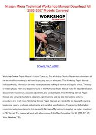 nissan micra technical workshop manual downlo by hughgainey issuu