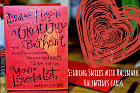 valentines cards send smiles with hallmark s cards houseful of