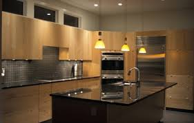 Flat Kitchen Cabinets Kitchens Maple Transom Windows Granite Grohe Stainless Steel
