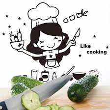 pretty girl like cooking wall art decal sticker funny kitchen pretty girl like cooking wall art decal sticker funny kitchen quote vinyl