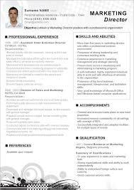 Template Resume Download Marketing Resume Templates Berathen Com