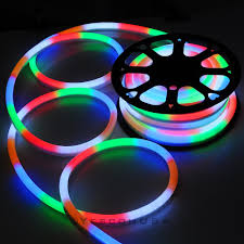 50ft led flex neon rope light in outdoor wedding