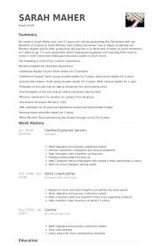 Resume For Cashier Examples by Cashier Customer Service Resume Samples Visualcv Resume Samples
