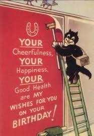 the birthday poster u0027 vintage black cat birthday card the vintage