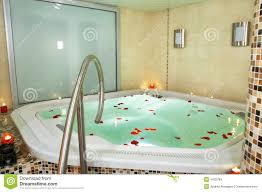 Bathroom Bathroom With Jacuzzi And Bath Of A Jacuzzi Stock Images Image 4432784