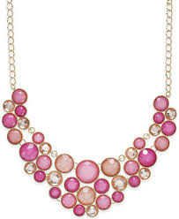 stone colored necklace images Inc international concepts gold tone colored stone bubble tif