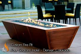 Copper Firepits 72 Copper Rectangle Pit Gas Pits Gas Fires