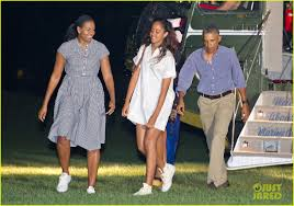 obama family arrives home from summer vacation photo 3739372