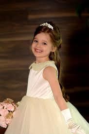 pearl collar ruffled flower dress junior bridesmaid dress