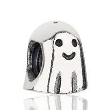genuine pandora sterling silver ghost halloween charm 790202