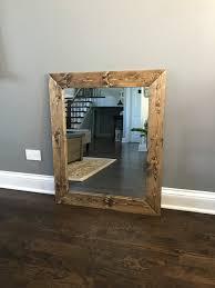 rustic farmhouse mirror country wood frame mirror wood