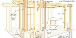 free trellis plans pergola amazing cedar pergola plans attached cedar pergola via