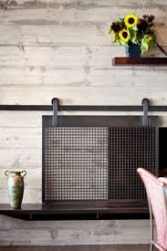 Texas Fireplace Screen by How To Make A Barn Door Style Fireplace Screen Fireplace Screens