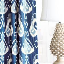 Blue Ikat Curtain Panels Amal Ikat Curtain Panel Window Treatments Finishing Touches