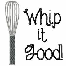 whip it good a machine embroidery design for the kitchen
