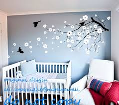 Tree Decal For Nursery Wall Flower Nursery Vinyl Wall Decals Sle Classic Bird Shadow Tree