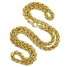 gold braided rope necklace images Contemporary gold 36 inch braided rope chain necklace at 1stdibs jpg