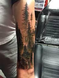 western hemlocks by madison at slc ink forearm tree tattoo