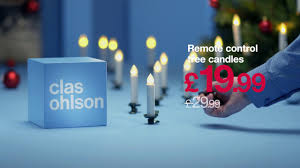 cordless christmas tree candles clas ohlson youtube