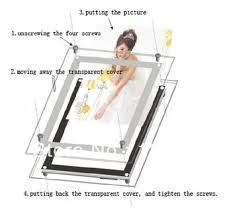 light boxes for photography display a1 size wall mounted display frame slim acrylic crystal led light