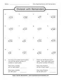 long division with remainders worksheets 4th grade math worksheets