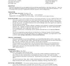 resume sle for college graduate with no work experience how to make resume with no workxperiencexle sle outstanding