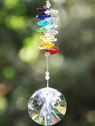 hanging crystals chakra healing sun catcher home2gardens
