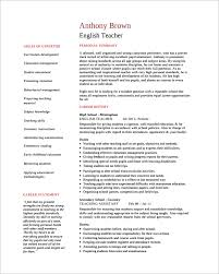 Sample Resume For English Teachers by Empty Resume Format Enchanting Cv Resume Example Best Sample