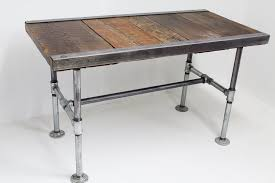 industrial desk with pipe legs mt hood wood works