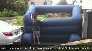 inflatable home theater system gemmy inflatable screen review youtube