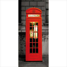 british london phone box door wallpaper 3 piece door mural 95cm x red british london phone box door wallpaper 3 piece door mural 95cm x 210cm