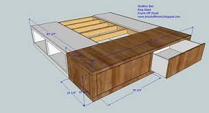 how to build a king size storage bed by ana white average cost