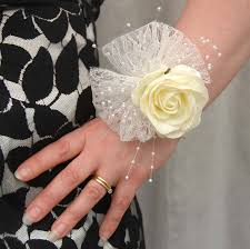 wedding wrist corsage vintage style wedding wrist corsage ivory s flowers