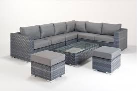 rattan corner sofa platinum large right grey rattan corner sofa set homegenies