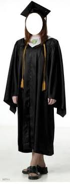 black cap and gown graduate black cap gown lifesize stand in cardboard cutouts